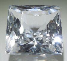 Princess French 8x8 mm 3.4 ct VVS D White Sapphire Brilliant Solitaire Cut Stone