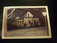 Classic Vintage 1960s Outdoor Christmas Tree Lights Tinsel Photo Photograph