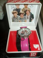 """NEW COLLECTIBLE """"ONE 1 -DIRECTION"""" WATCH W/ORIGINAL BOX LOOK NICE FOR TEENS HOT"""