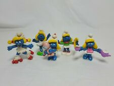 Smurfs Vintage PVC Toy Figure Lot of 5  Smurfette