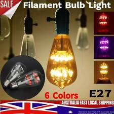 6Pcs LED E27 Edison Filament Bulb Light Retro Vintage Screw Globe Lamp fh