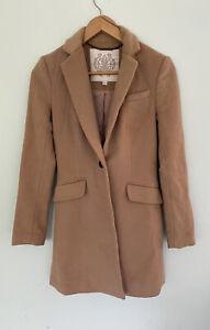 FOREVER NEW size 6 women's wool blend camel Carmel winter coat like new