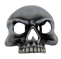 Mens Womens Skull Belt Buckle Gothic Skeleton Tribal Antiqued Metal Tattoo New