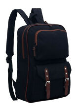 "AM Landen®Super Cute Canvas 14"" Laptop Backpack School Bag(Black)"