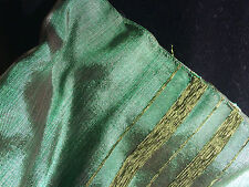 From the Textile Souks of Fes, Morocco: Sabra Silk Table Clothes/Bed Cover-Green