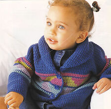 Crochet Pattern ~ Baby Mexican Jacket Sweater ~ Instructions
