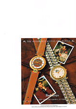 PUBLICITE  advertising 1989 BURBERRYS OF  LONDON   collection montres
