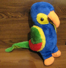 "Vintage 1981 ETONE Plush 14"" Polly Parrot  MINT with TAGS VERY RARE"