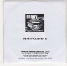 (EJ197) Ebony Bones!, We Know All About You - DJ CD