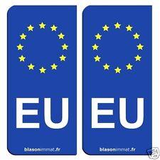 2 Autocollants immatriculation auto : EU Union Européene - Identifiant Européen