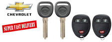 2 CHEVROLET 2007-2017 B111 Transponder Chip Key + 3 Button Remote Fob OUC60270