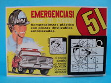 EMERGENCY! * JOHN CAGE (Randolph Mantooth) & PUPPY * SLIDE PUZZLE GAME ARGENTINA
