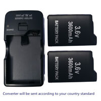 2x New Rechargeable Battery + AC/DC charger for Sony PSP-110 PSP-1001 PSP 1000