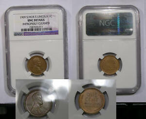 1909-S/HORIZONTAL S LINCOLN NGC UNC. DETAILS INV#333-B11