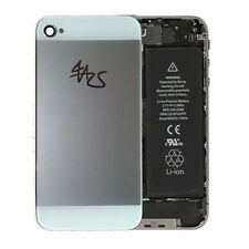 iPhone 4 4S Backcover Akkudeckel Rückschale Rückseite Glas Gehäuse weiß white