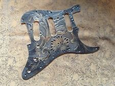 Custom Tooled Leather Pickguard Fender Stratocaster SSS HSS HH Blacktop or Fat