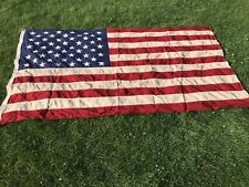 More details for 1970 american flag 8' x 5' flown over washington (with framed letter) rare