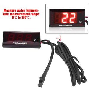 Motorcycle Thermometer Water Temp Temperature Gauge Meter Digital Display Sensor