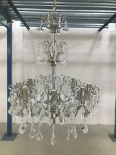 Silver Chandelier 8 Lights Ceiling Lighting Home Crystal Drops Lamp EX-DISPLAY