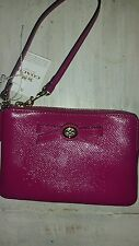 COACH   cranberry turnlock zip wristlet *F64648**NWT**$ 59.99**FREE SHIPPING**
