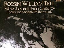 "ROSSINI WILLIAM TELL-""Milnes, Pavarotti, Freni, Ghiaurov, Chailly"" 4-LP Box Set"