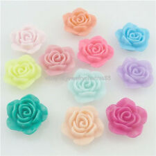 17365 30x 20mm Resin Rose Flower Spacer Beads flatback Cameo Scrapbook for Craft