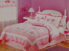 New Fairy Princess Garden Girls Kids Bedding Quilt & Sham Set - Twin