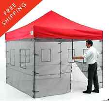 Food Concession Tent Canopy Mesh Wall Trailer Service Portable Bug Screen Window