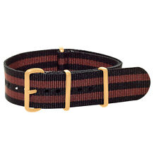 Yellow Gold Premium Nato Nylon Replacement Watch Strap Band