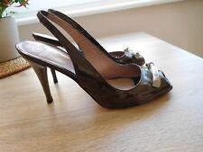 Einzigartige hochwertige Schuhe von GF FERRE ITALIE gr.39 Schlamm Lackleder=wNEU