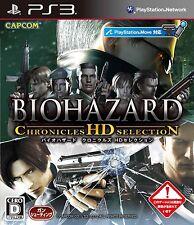 PS3 Biohazard Chronicles HD Selection Importado de Japón Oficial F / S