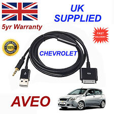 CHEVROLET AVEO OX0467904 3GS 4 4S iPhone iPod USB & Aux Audio Cable black