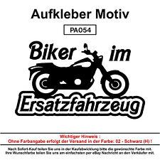 Biker im Ersatzfahr - Autoaufkleber Aufkleber Fun Spaß Sticker Lustige Sprüche