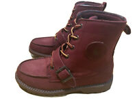 polo ralph lauren ranger boots Hi Triple Burgundy Size 4 Junior