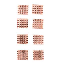 8 Pieces Cooling Copper Heatsinks for Motherboard VGA DDR RAM Heat Cooler