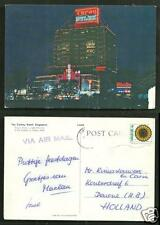 Singapore Cathay Hotel Evening Neon stamp 70s