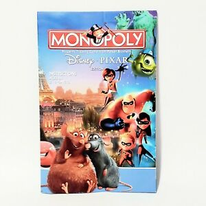 Monopoly Disney Pixar Edition Instruction Manual 2007