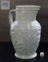 Wein Kanne Krug Villeroy Boch Mettlach Keramik jug mug ceramic19thC