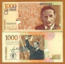 Colombia, 1000 (1,000) Pesos, 2014, P-456-New, UNC > replaced by a coin