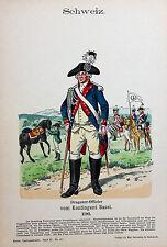 Schweiz Suisse Schwyz Uniform Offizier Dragoner Basel Trommel Dreispitz Napoleon