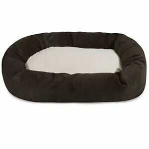 52 inch Storm Villa Collection Sherpa Bagel Dog Bed
