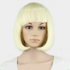 UK WOMEN LADIES SHORT BOB STYLE WIG FANCY DRESS COSPLAY WIGS POP