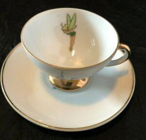 Disneyland Tinker Bell Castle Mini Tea Cup and Saucer 2 pc. Vintage 60s Japan