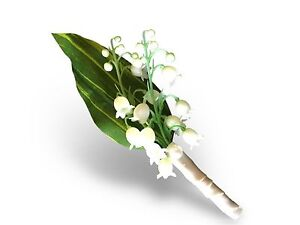 Boutonniere-Lily of the valley-Pin included.