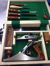 Tischlerwerkzeuge-Set in Holzkassette Hobel Hobelset Schreinerwerkzeuge-Set