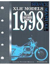 1998 Harley Sportster XL1200 XL883 Service Repair Workshop Manual NEW 99484-98