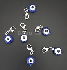 Nazar Boncuk Charm Anhänger für Armband Charms Beads Evil Eye Auge Perlen Silber