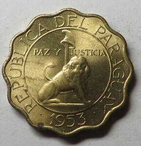 Paraguay 50 Centimos 1953 Aluminum-Bronze KM#28 UNC