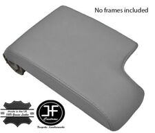 GREY GENUINE TOP GRAIN LEATHER ARMREST COVER FITS BMW E46 3 SERIES 1998-2005