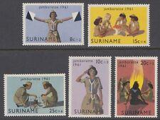 Suriname 1961 ** Mi.408/12 Pfadfinder Scouts Scouting [sq4909]